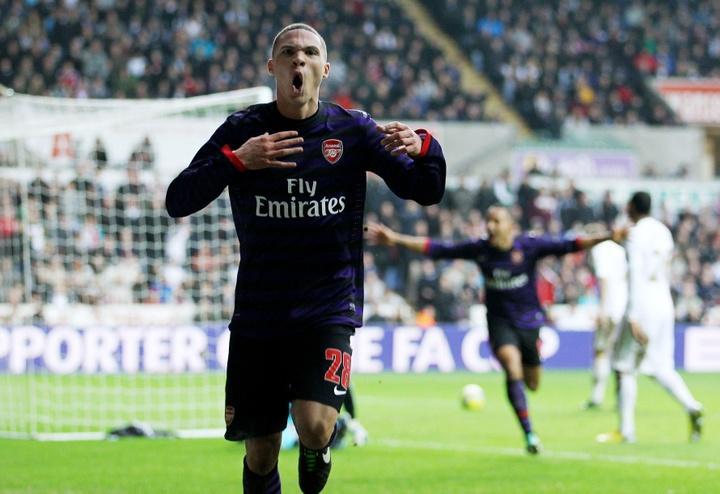#10 Célébration de Gibbs après son but face à Swansea